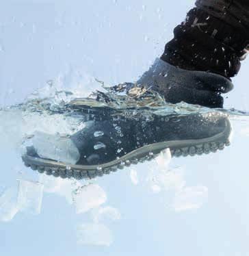 chaussettes imperméables sealskinz et chaussures minimalistes leguano sneakers